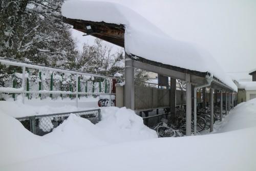 中津幡駅 2018.2.7大雪