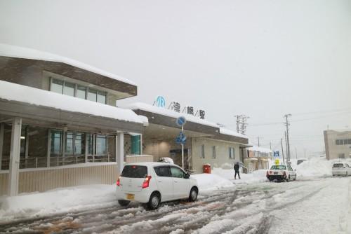 津幡駅 2018.2.7大雪