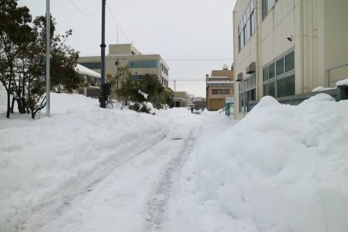 2018大雪の問屋団地