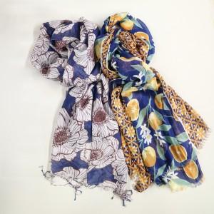 涼やか&華やぎのある春スカーフ